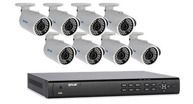 8 camera package with IP bullet cameras
